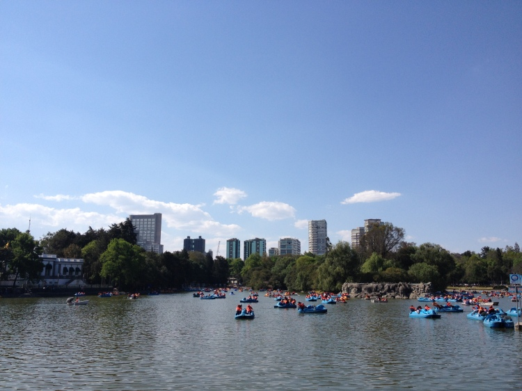 "The Bosque de Chapultepec (Náhuatl, ""hill of the grasshoppers"") and lake of Chapultepec"
