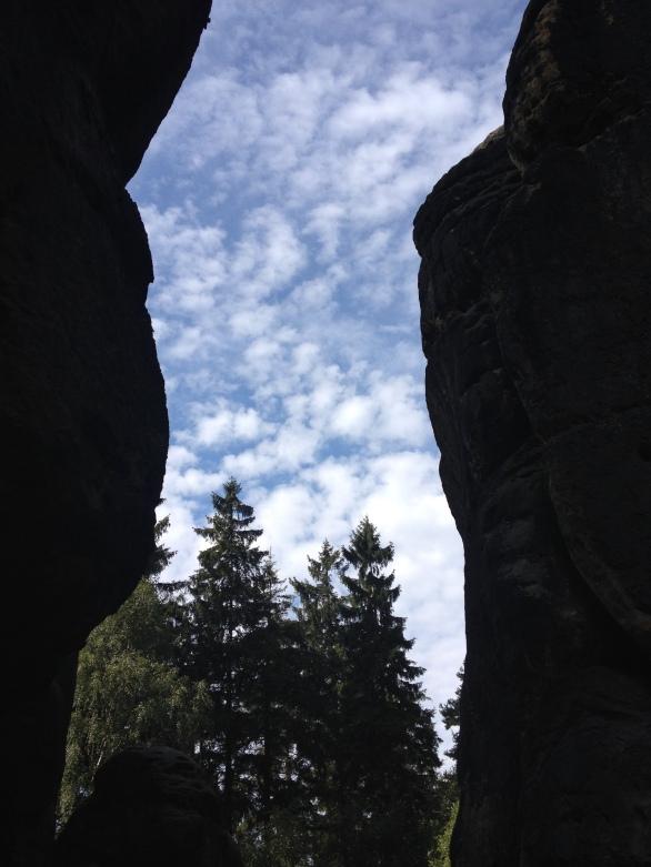 Hiking in between the Schrammsteine!