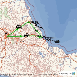 4 days Veracruz - itinerary