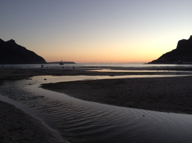 Picture of Hout Bay River that flows into the Atlantic.